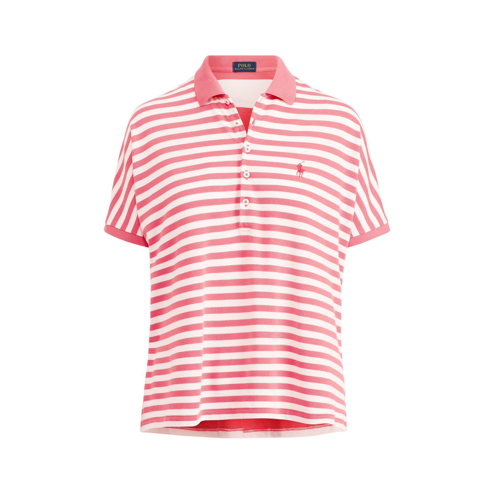 Poncho Lauren Ralph Striped Shirt Polo Mesh Red zMpSUV