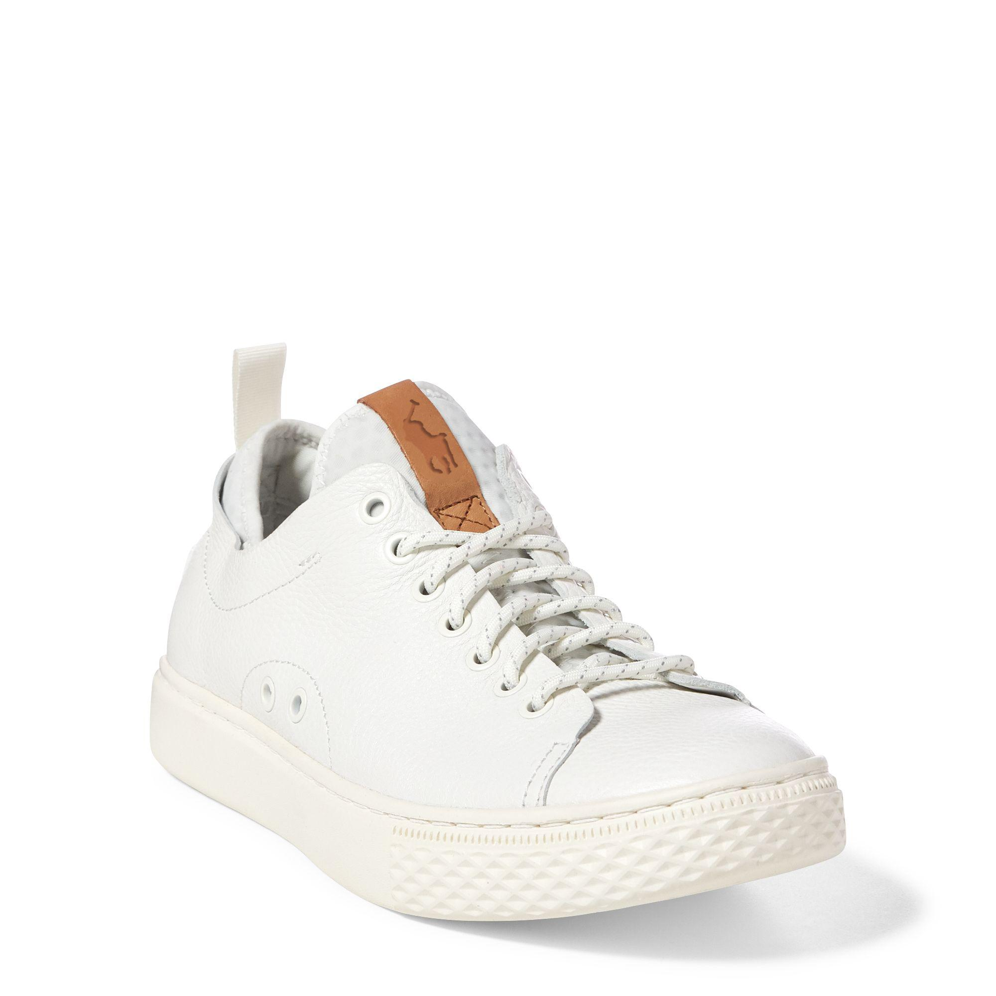 White Men's Leather Dunovin Sneaker 1TFKJcl