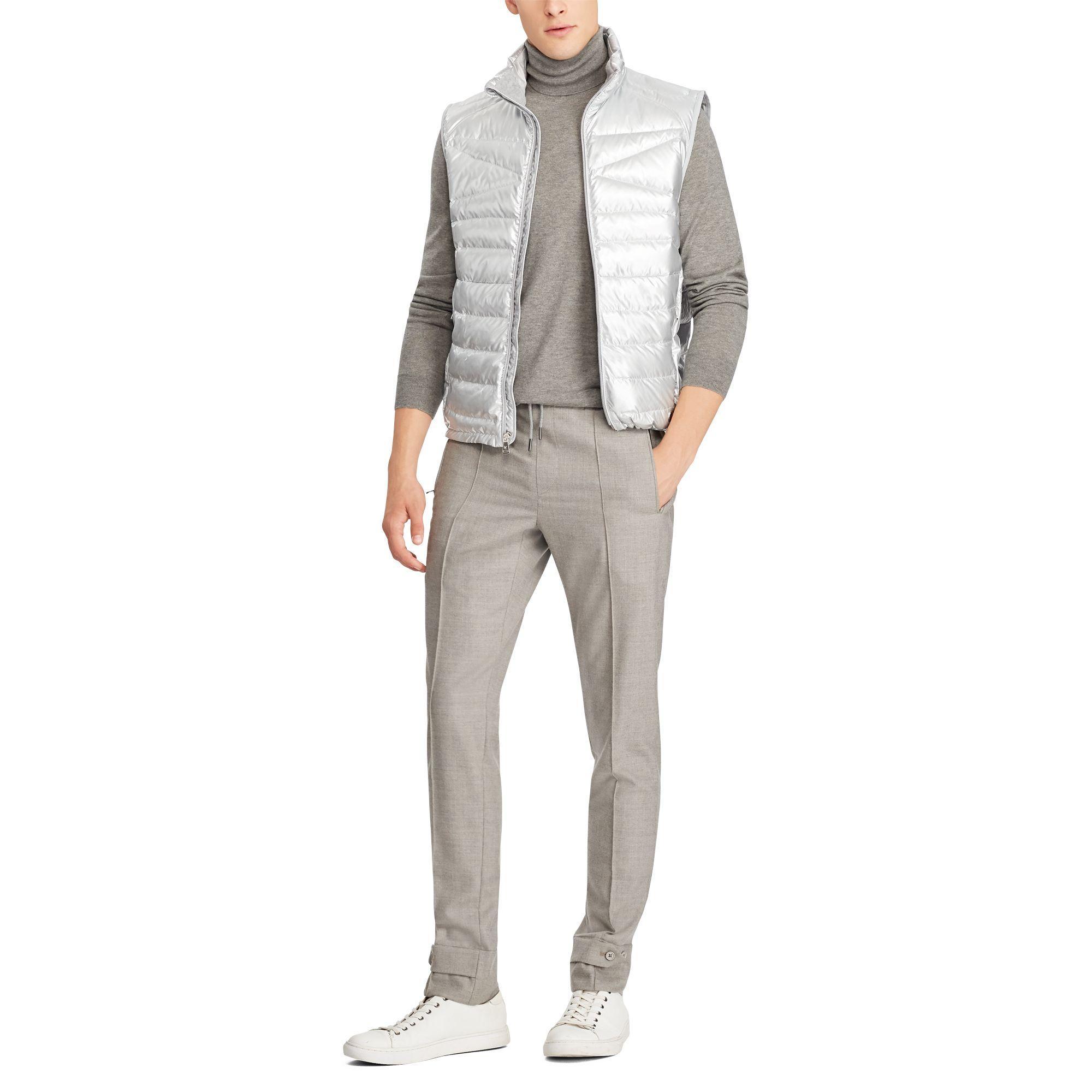 Ralph Lauren Purple Label Rlx Lightweight Foil Vest In
