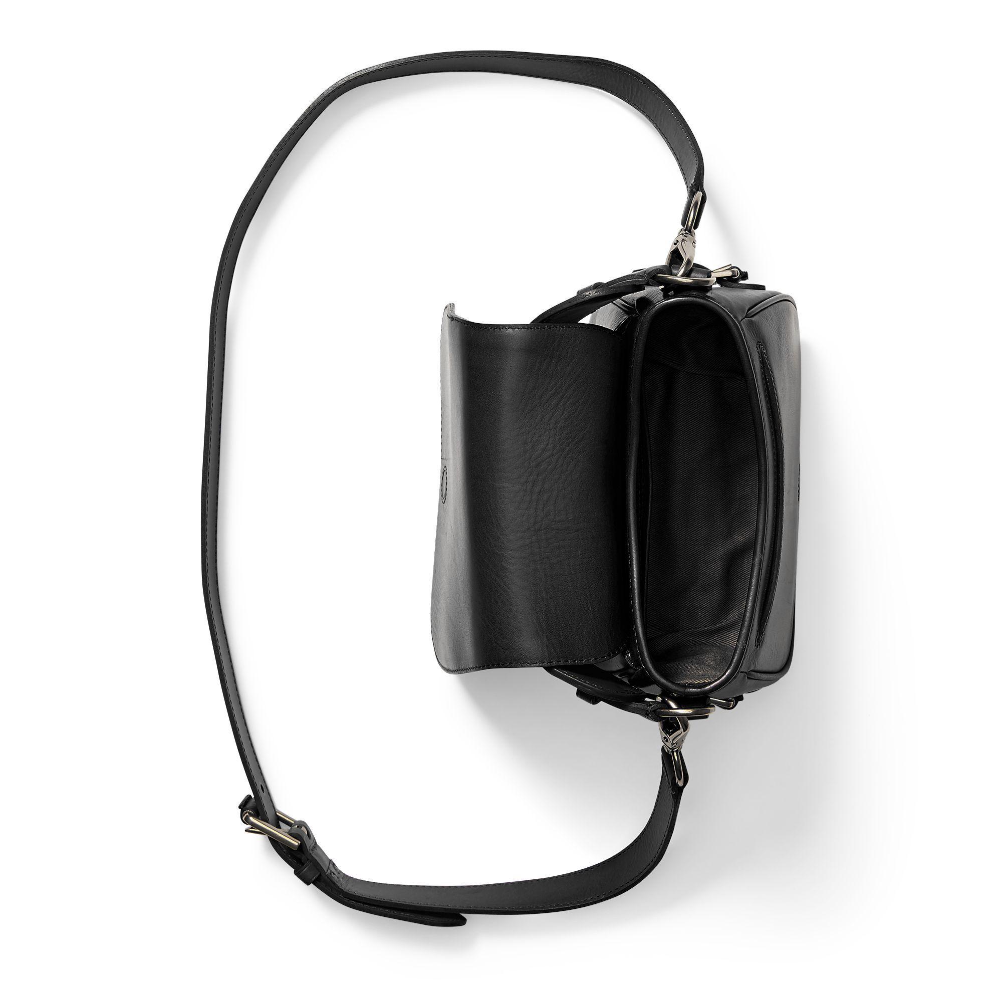 0a1672c9ed9 Polo Ralph Lauren Small Sullivan Saddle Bag in Black - Lyst