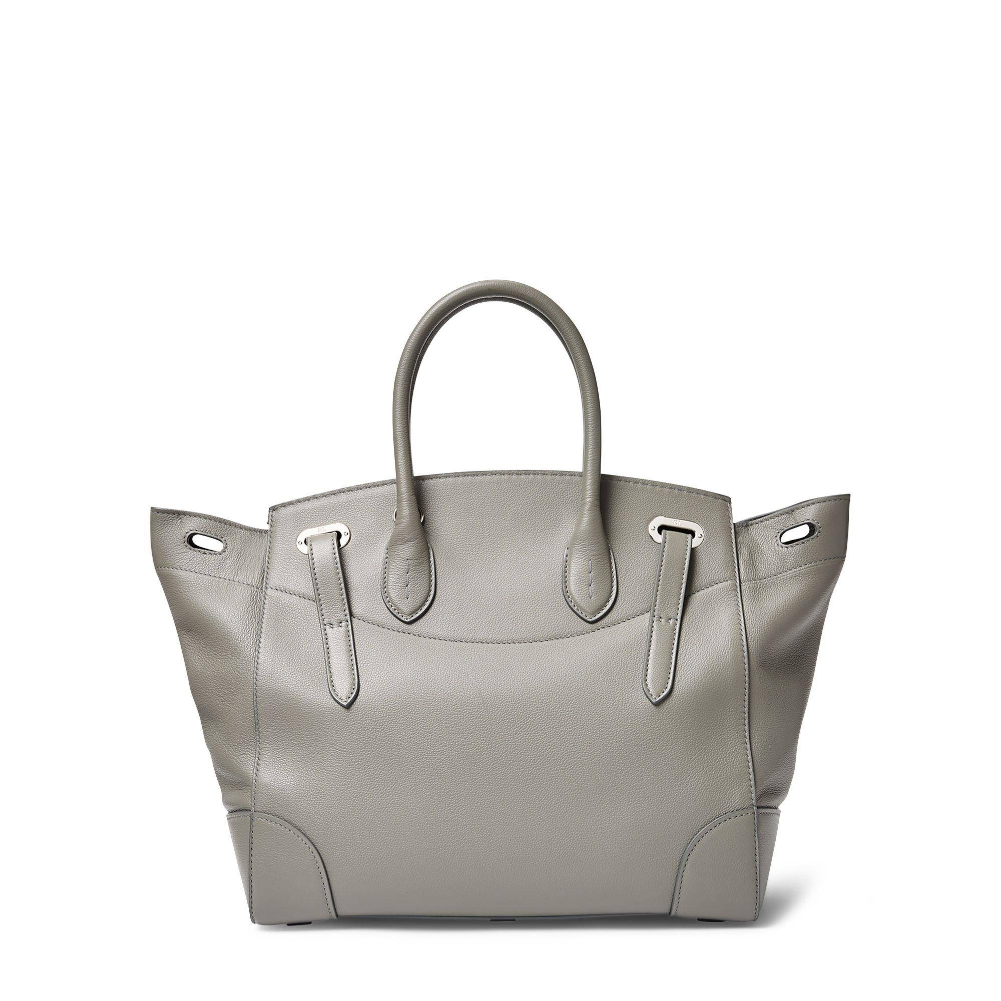 b0c07ba78201 Lyst - Ralph Lauren Tumbled Leather Soft Ricky 33 in Gray