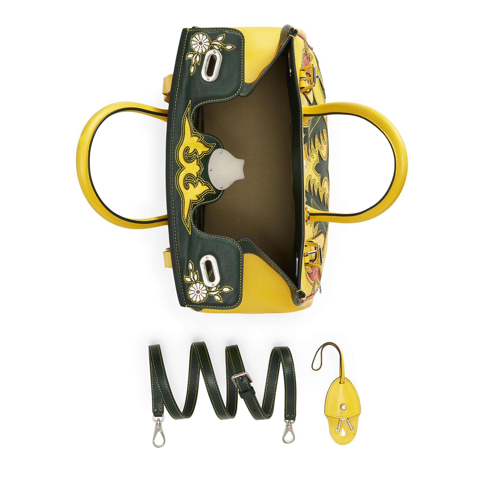 b3071bf312 Lyst - Ralph Lauren Calfskin Soft Ricky 33 in Yellow