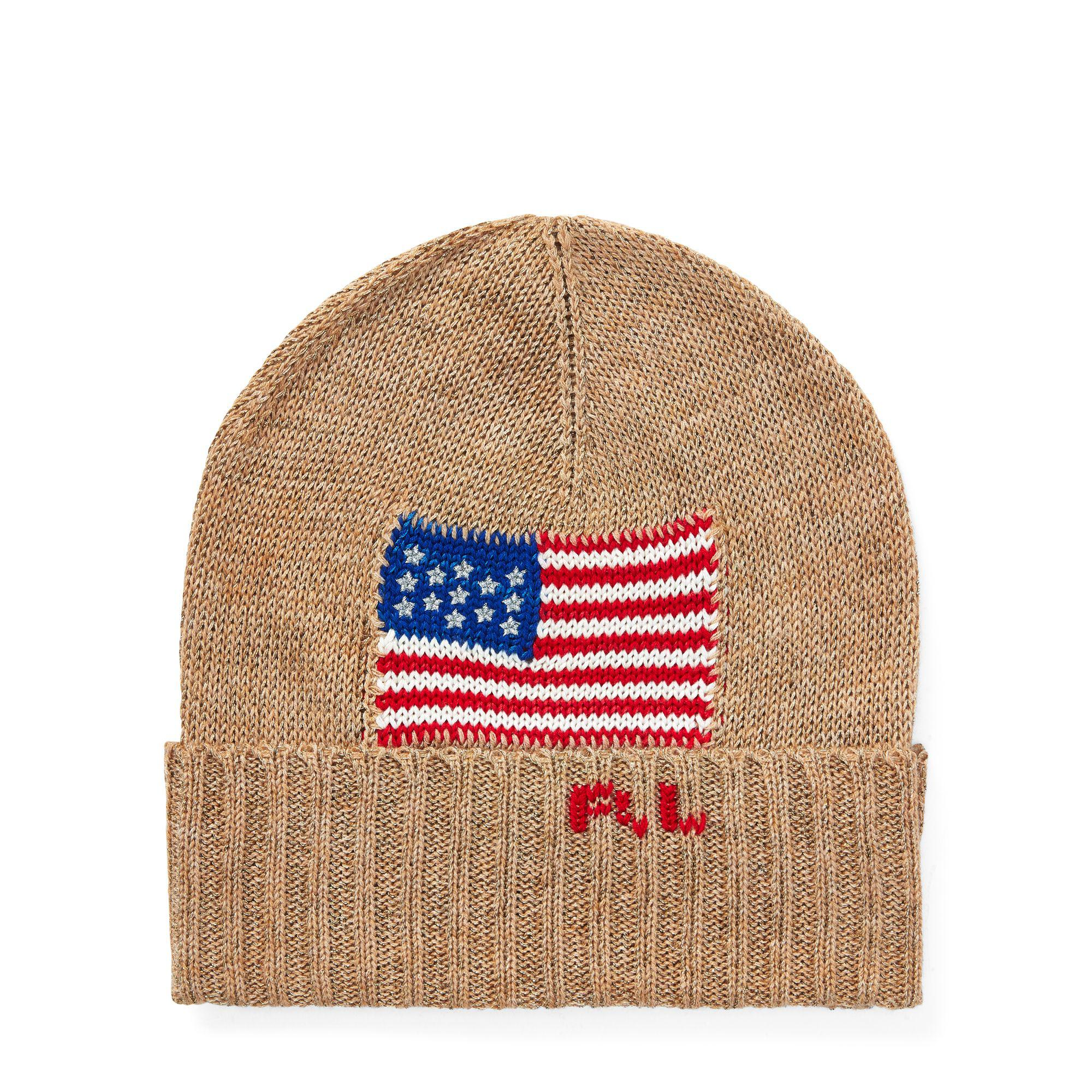 Lyst - Polo Ralph Lauren Metallic Flag Hat ea5b7d036f3c