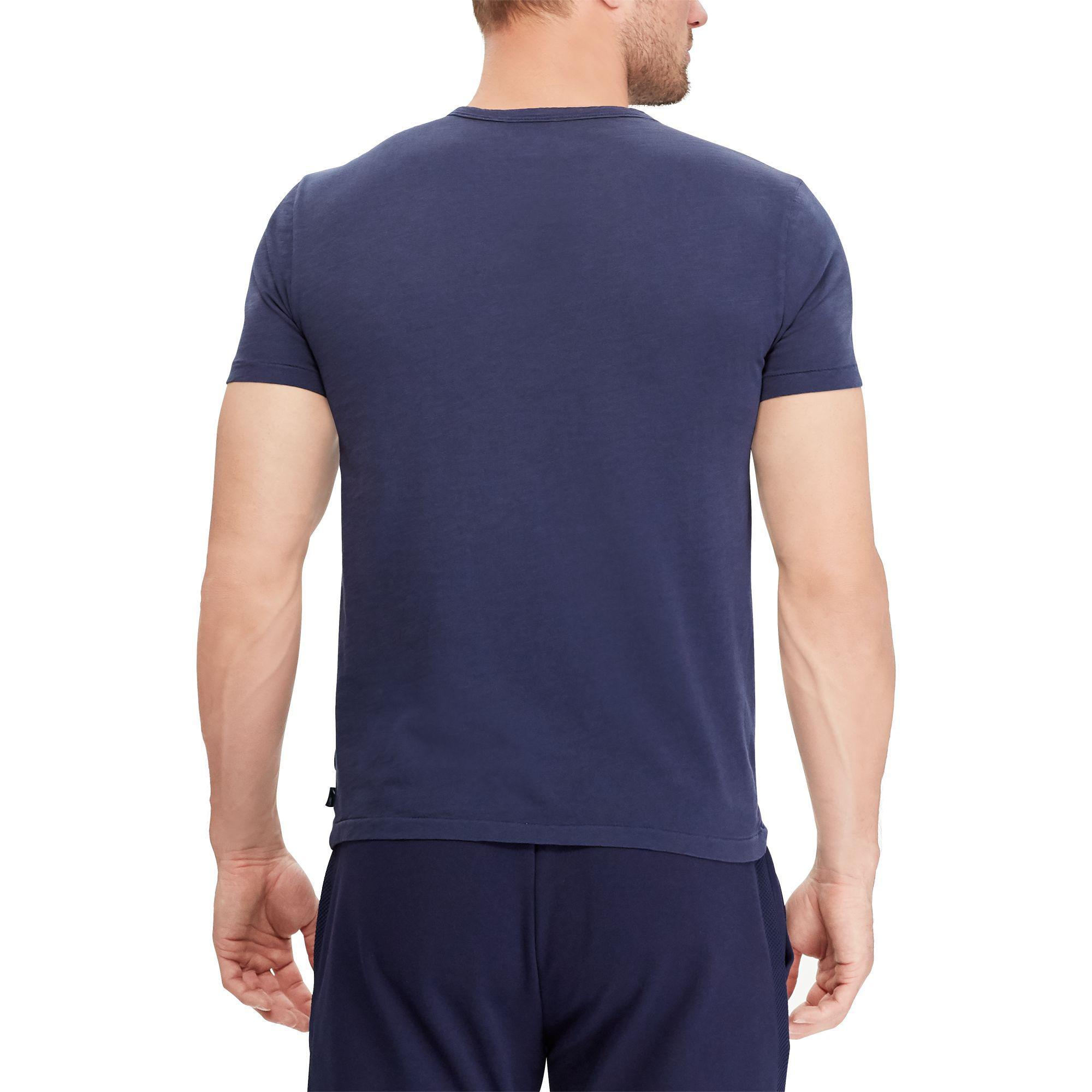 c4b8ab2d10 Polo Ralph Lauren Blue Wimbledon Custom Slim T-shirt for men