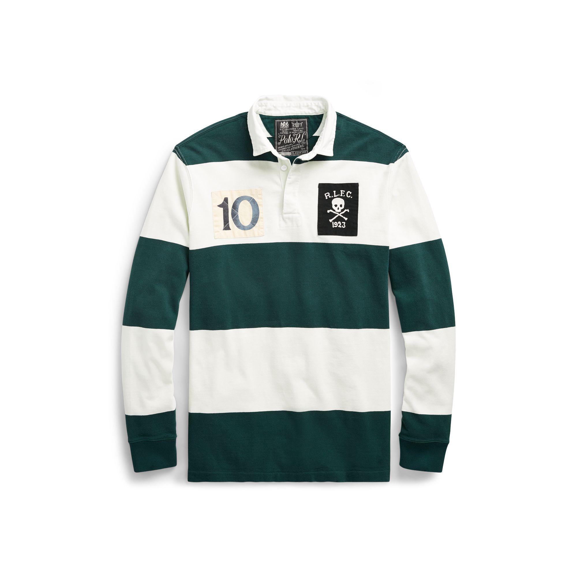 5cb2c286 Polo Ralph Lauren Classic Fit Cotton Rugby Shirt in Green for Men - Lyst
