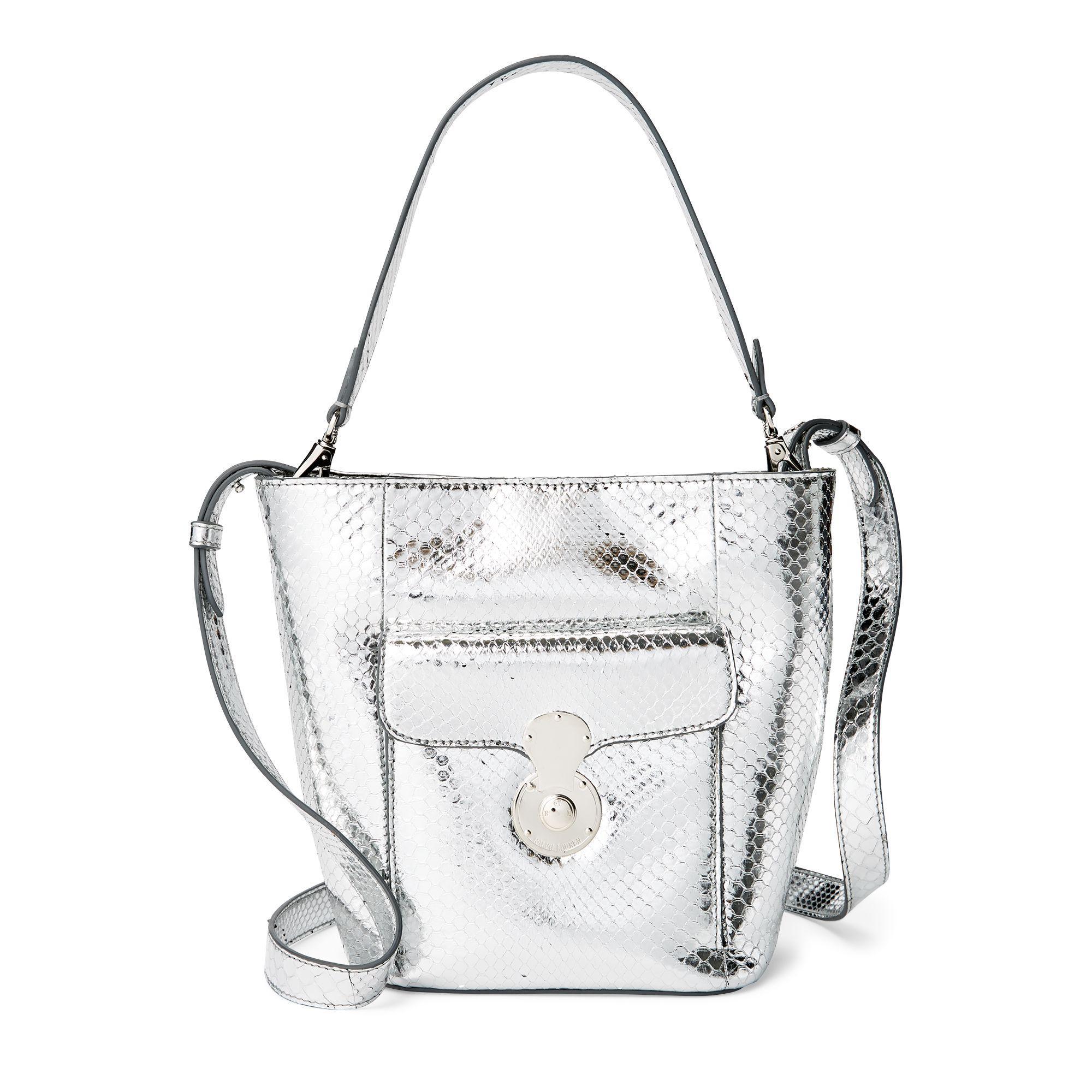 Ralph Lauren Python Mini Rl Bucket Bag in Metallic - Lyst 8a01f76bf5