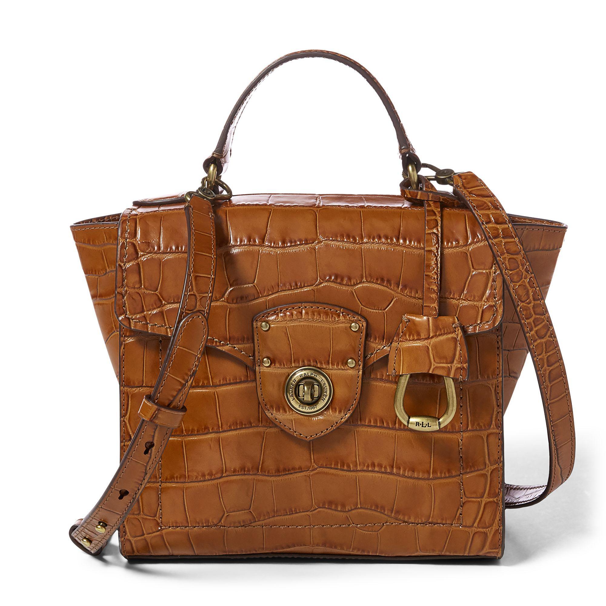 e50bb2159a1d Ralph Lauren Leather Satchel in Brown - Lyst
