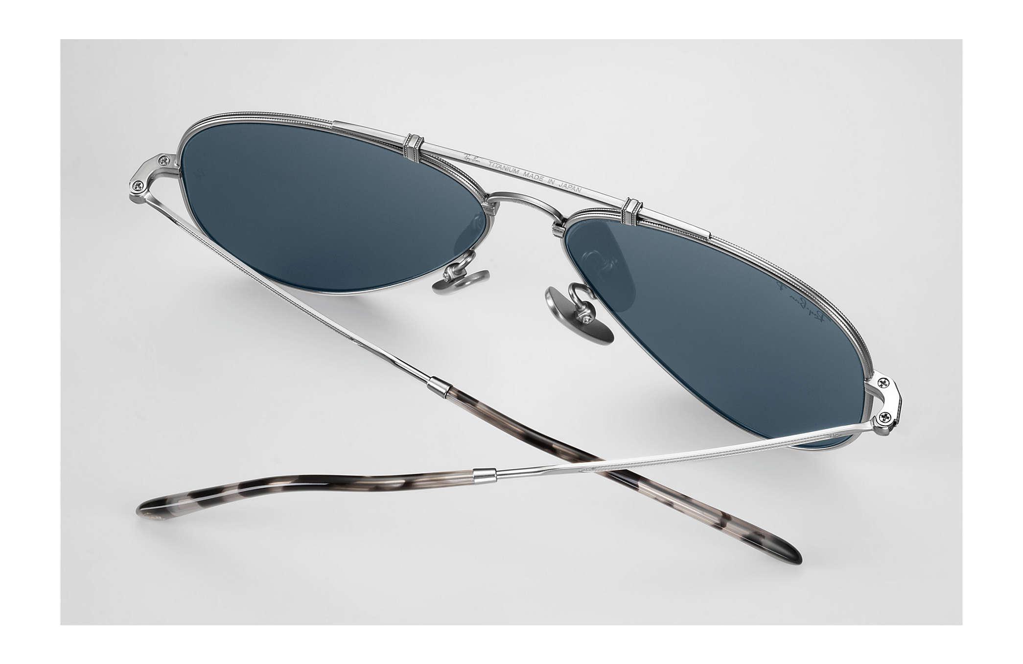 63172e11200 Ray-Ban Aviator Titanium in Blue for Men - Lyst