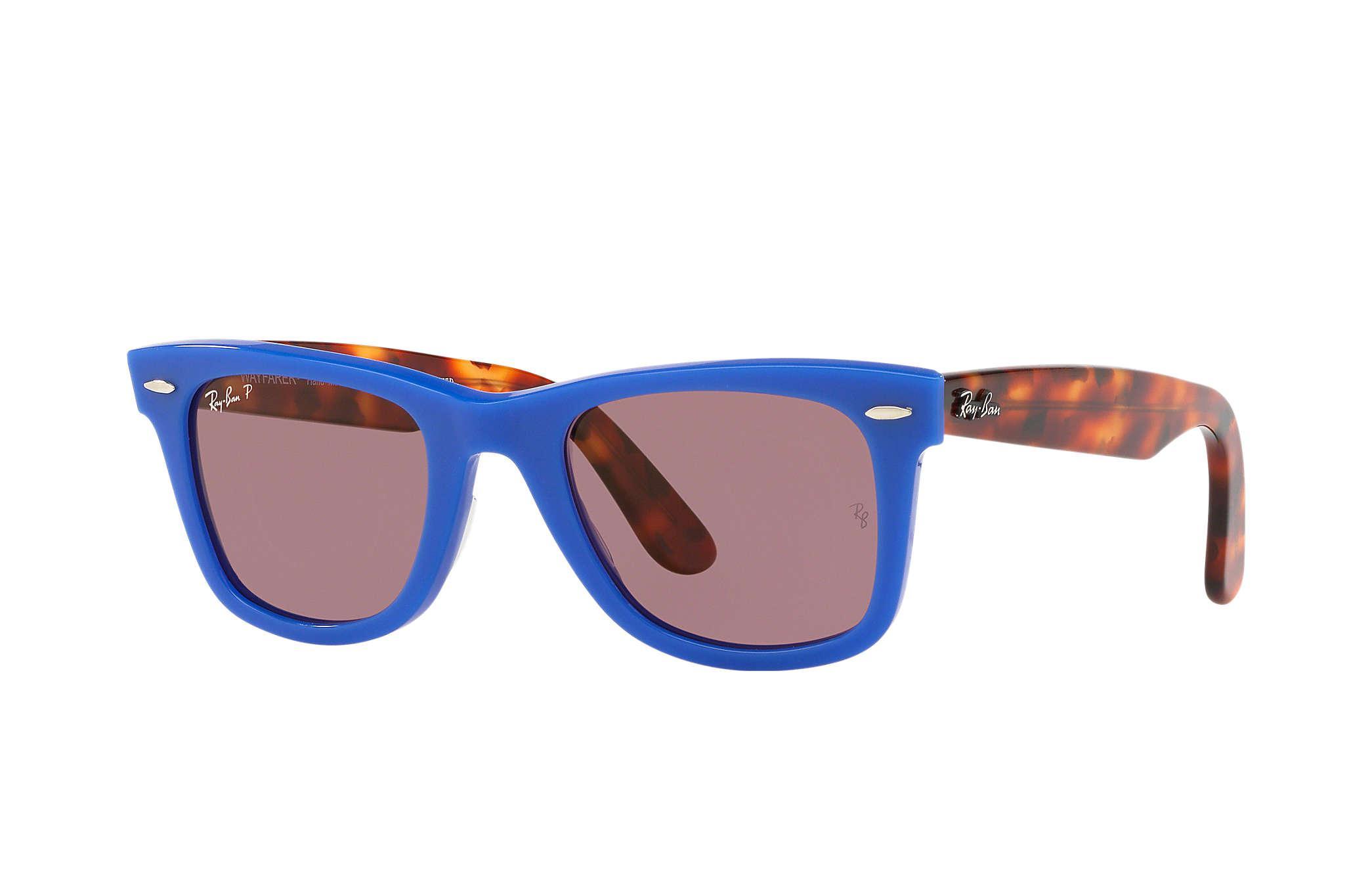 e292d08fffb ... promo code lyst ray ban wayfarer pop in blue 8483f ddb62