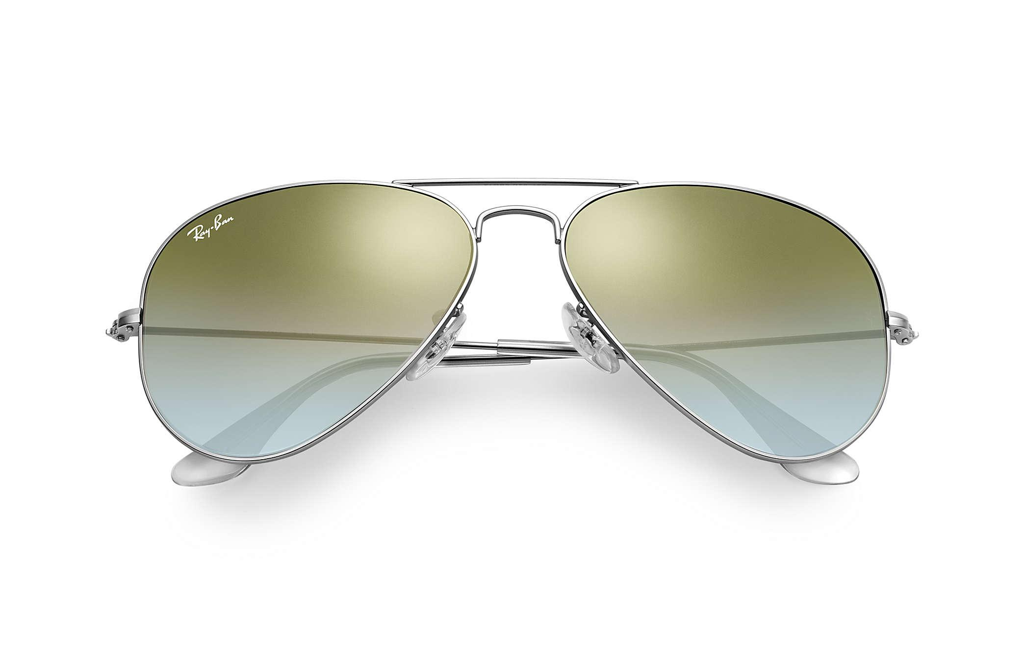 Ray-Ban - Green Aviator Flash Lenses Gradient - Lyst. View fullscreen fd9d2a9788
