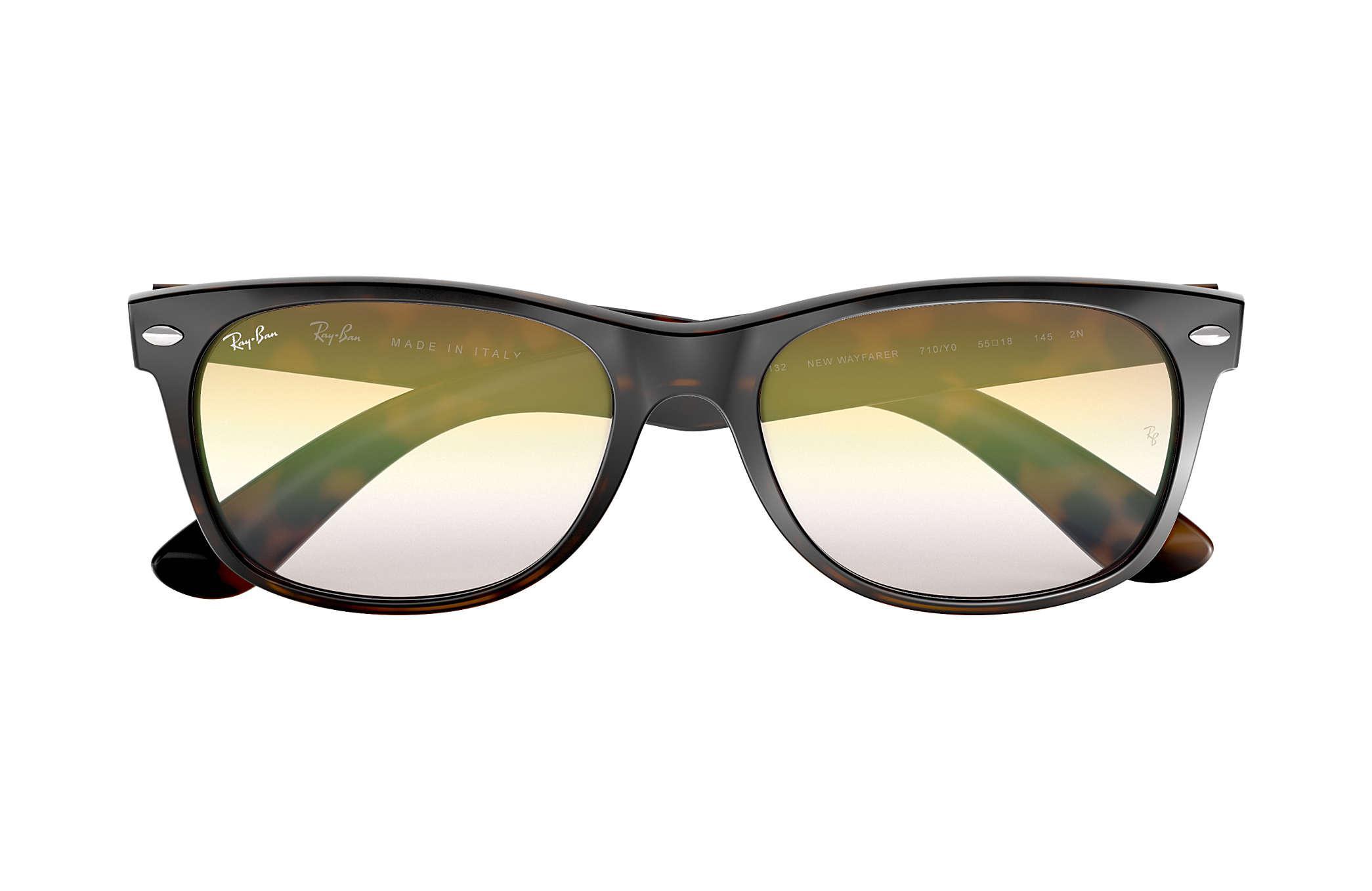 4c9e790f77 Lyst - Ray-Ban New Wayfarer Flash Gradient Lenses in Metallic for Men