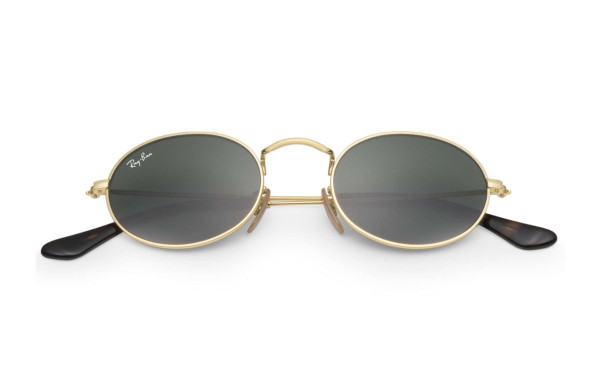 88c6af05051 Ray-Ban - Metallic Oval Flat Lenses for Men - Lyst. View fullscreen