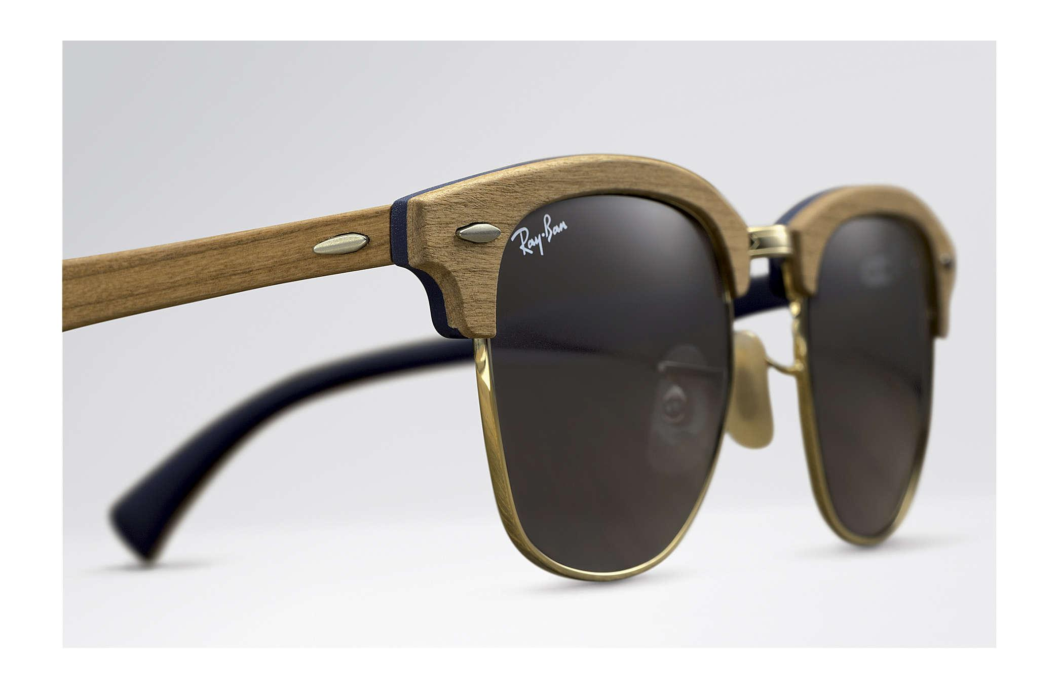 ray ban clubmaster wood blue