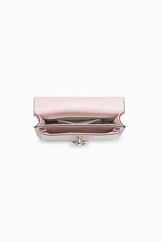 Rebecca Minkoff Leather Jean Crossbody in Pink