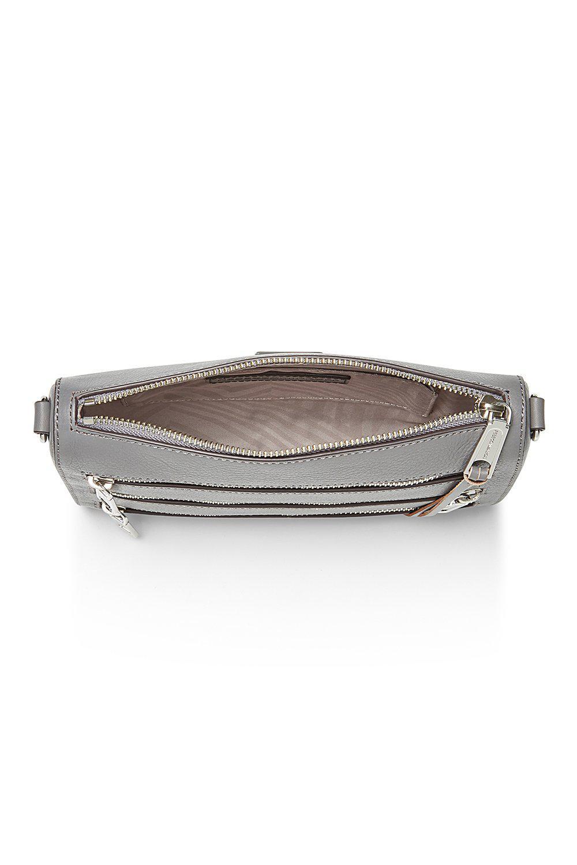 Rebecca Minkoff Leather Mini 5 Zip Crossbody in Grey