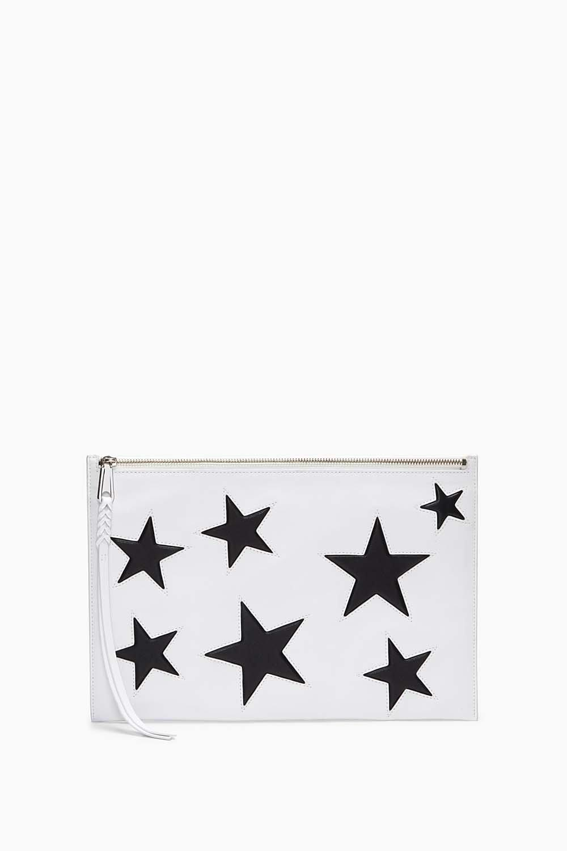 Rebecca Minkoff Multicolor Multi Star Large Zip Clutch