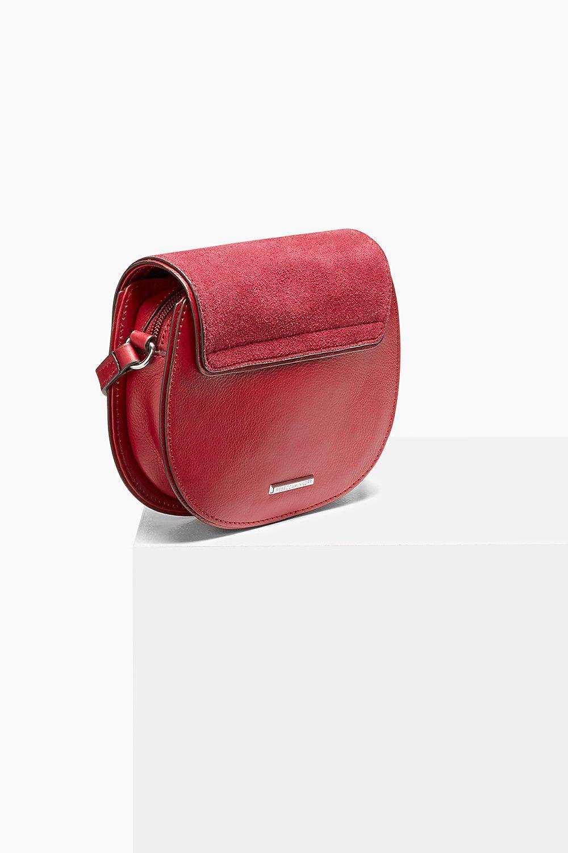Rebecca Minkoff Leather Mini Suki Crossbody in Red