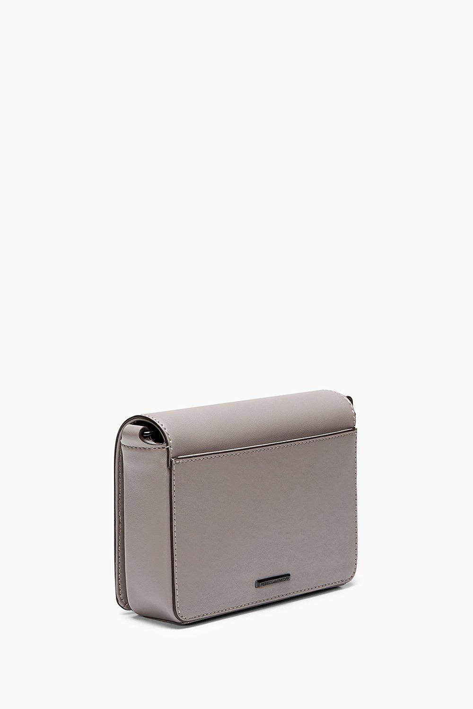 Rebecca Minkoff Leather M.a.b. Flap Crossbody in Grey (Grey)