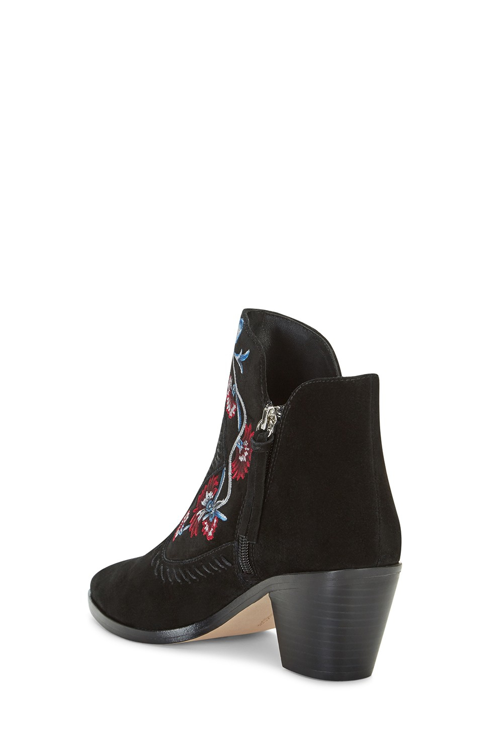 Rebecca Minkoff Suede Lulu Embroidery Bootie in Black