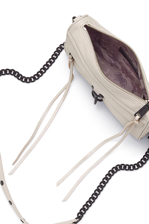 Rebecca Minkoff Leather Mini M.a.c. Crossbody in Natural