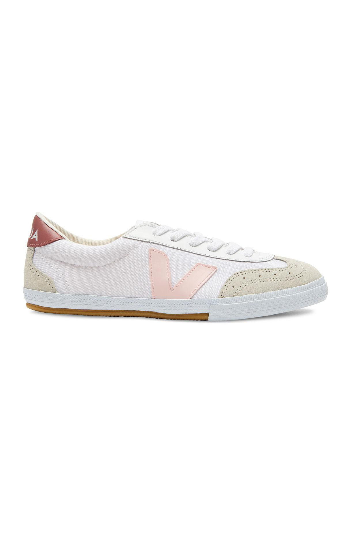 Rebecca Taylor Suede Veja Volley Sneaker in White