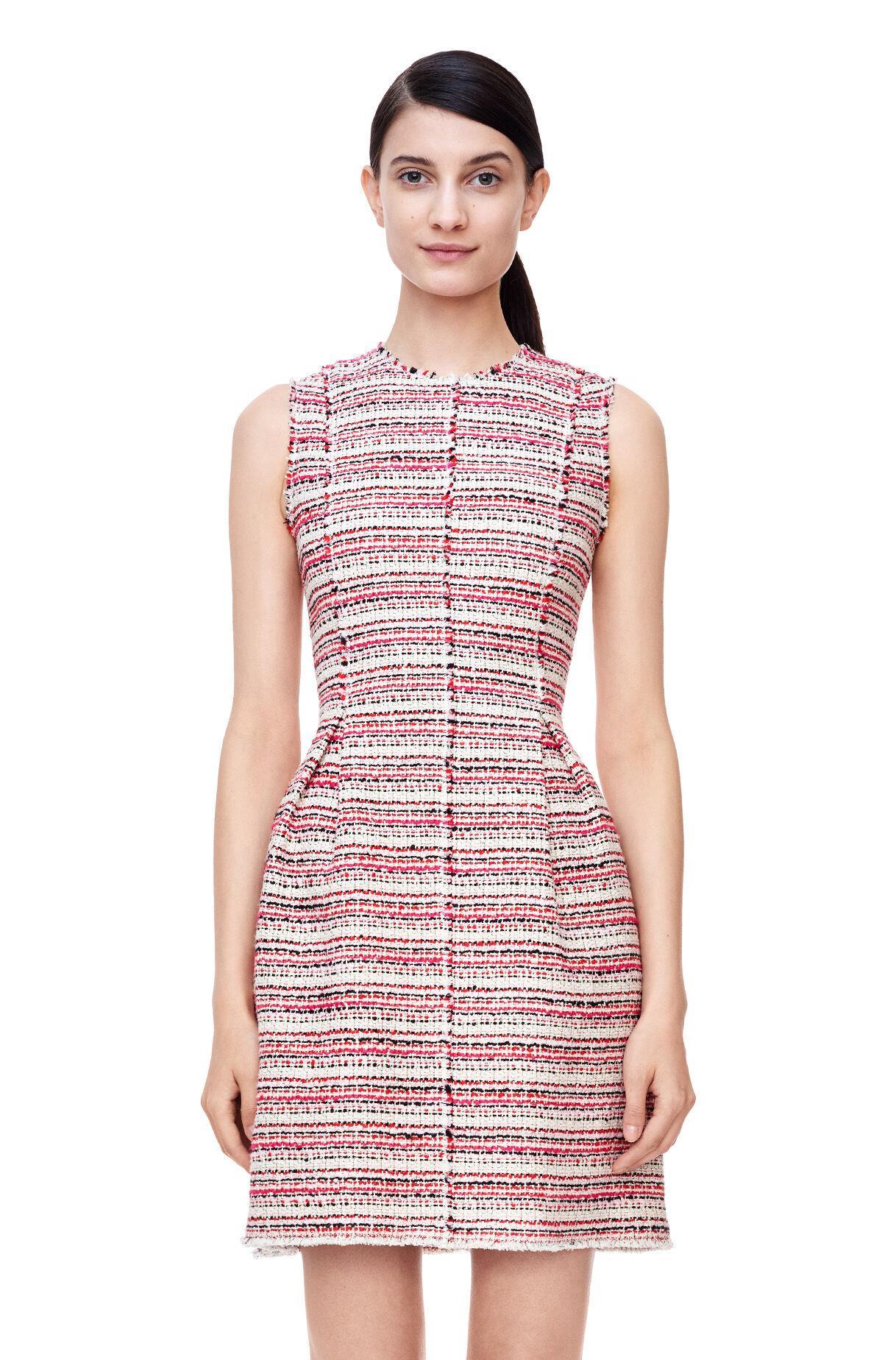 Rebecca Taylor Womens Sleeveless Silk /& Tweed Dress