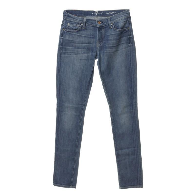 "7 For All Mankind Denim Jeans ""Roxanne"" in Blau q6zW2"