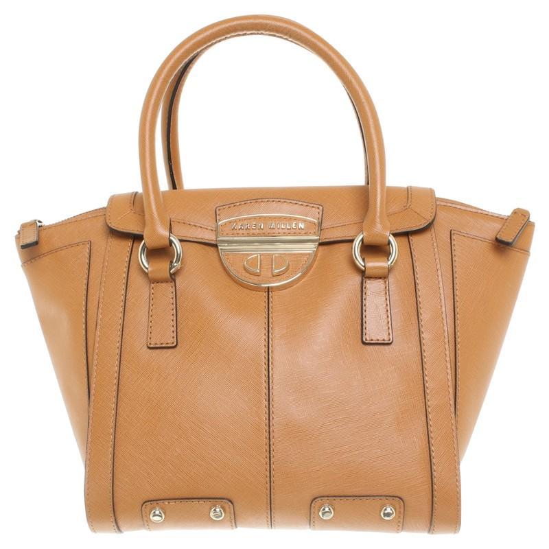 Karen Millen Cognacfarbene Handtasche in Braun fIpp6