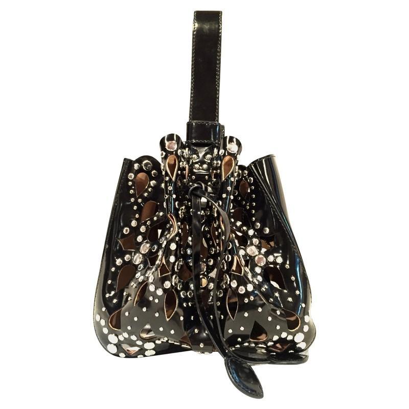 Alaïa Handtasche aus Leder in Schwarz oQhxu