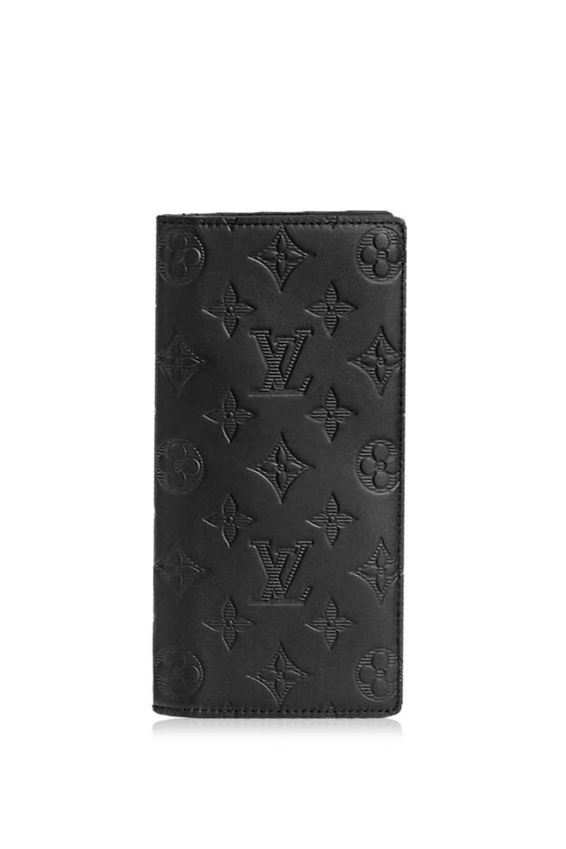4403159579eb Lyst - Louis Vuitton Brazza Wallet Monogram Shadow Black Bifold Long ...