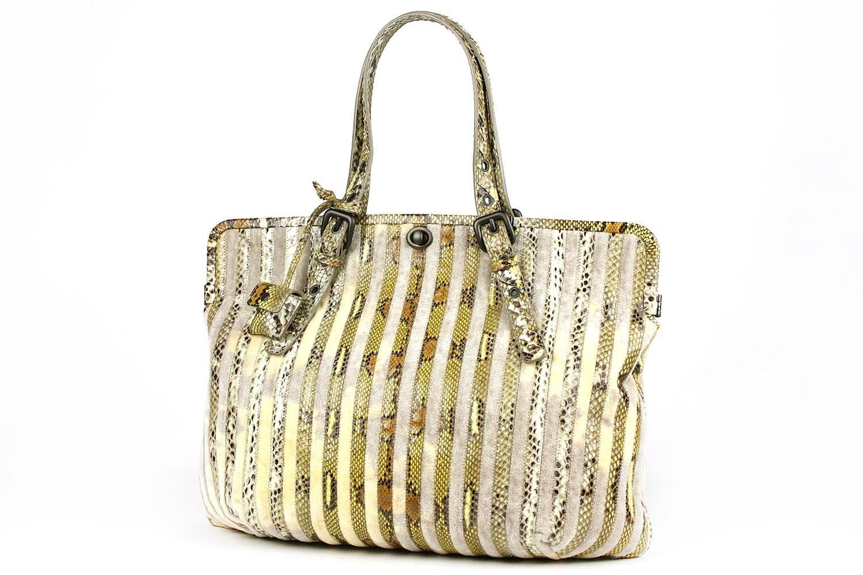 a19a308888b Lyst - Bottega Veneta  snake Skin Velvet Shoulder Bag snake Skin ...