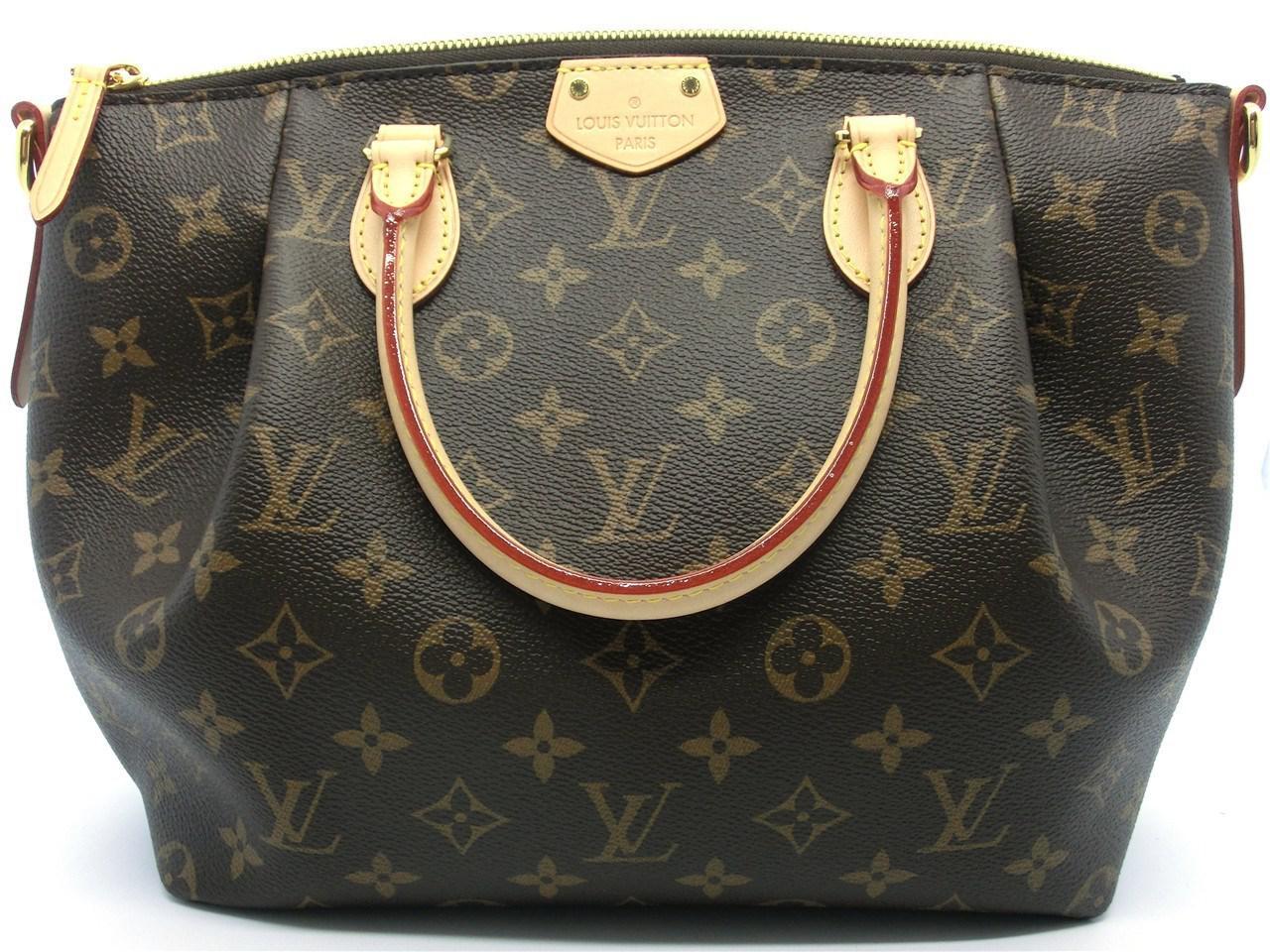 4fca74c1d9167 Lyst - Louis Vuitton Auth Monogram Canvas Turenne Mm Shopper Tote ...