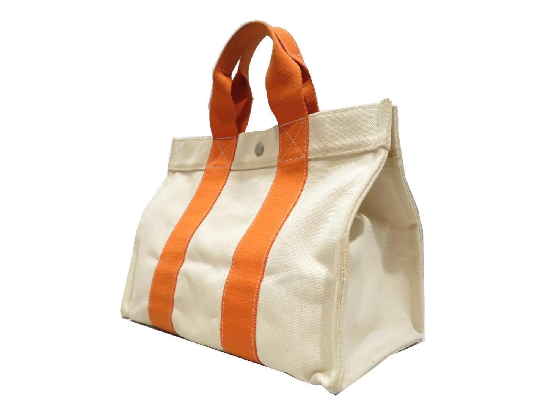 3046e168e899 Lyst - Hermès Bora Bora Pm Tote Bag Handbag Canvas Orange in Orange