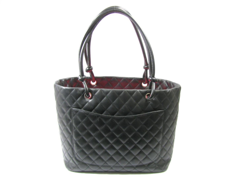 21ec85aaae Chanel Cambon Line Large Tote Cc Shoulder Bag Lambskin Enamel ...