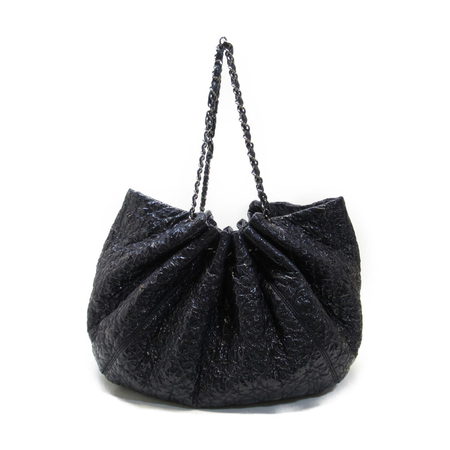2603ef542400 Chanel - Auth Large Shoulder Tote Bag Black Patent Leather Used Vintage -  Lyst. View fullscreen