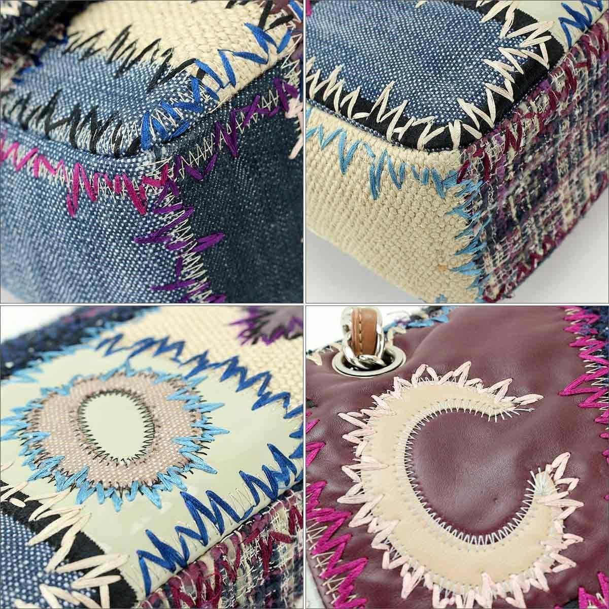 f25be151608f Chanel Patchwork Chain Shoulder Bag Denim Leather A49129 90038191 ...