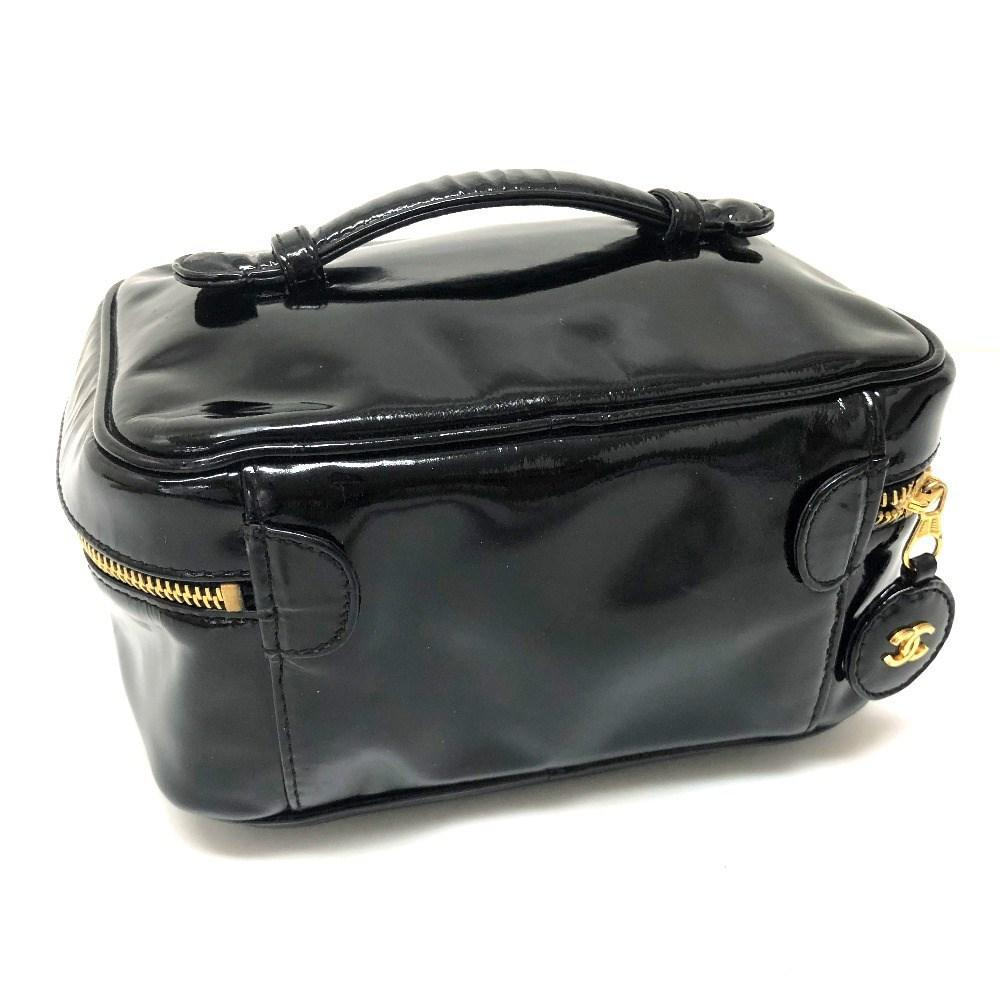 ee906ec3e6e1 Lyst - Chanel Vanity Bag Cosmetics Pouch Makeup Pouch Hand Bag Black ...