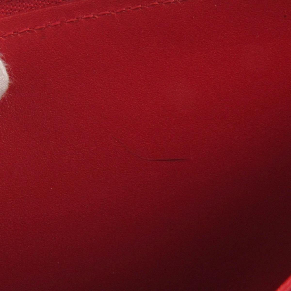 premium selection 79fdc 3b633 Louis Vuitton Red Authentic Zippy Wallet Round Purse M90417 Verni Used  Vintage