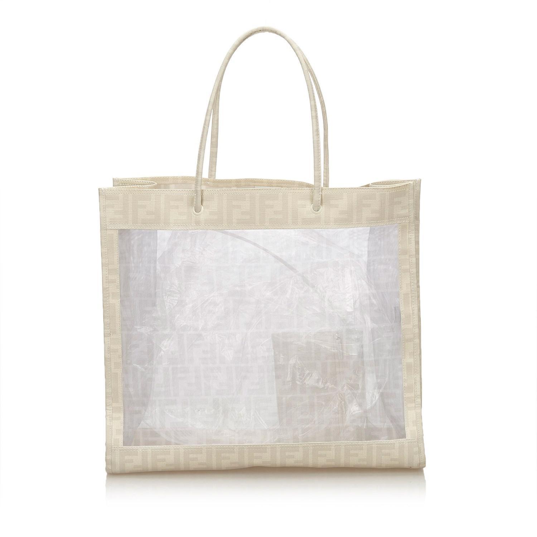 aca417f8f90f 12345678 a0816 2bc6a germany lyst fendi zucca mesh tote bag in white 63fca  990fc ...