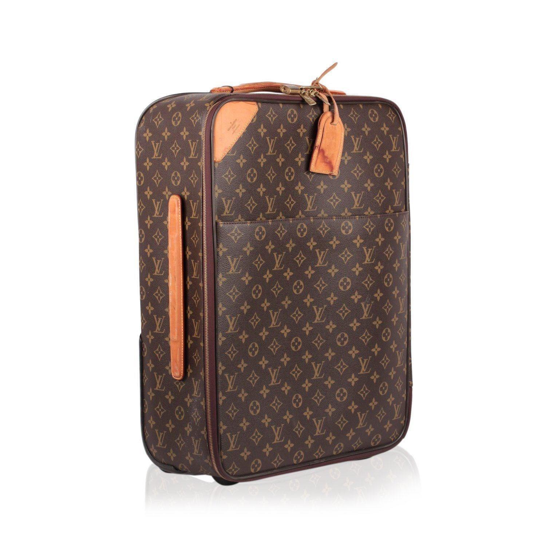 54aaa075d8 Louis Vuitton Brown Monogram Canvas Pegase Legere 55 Rolling Suitcase for  men