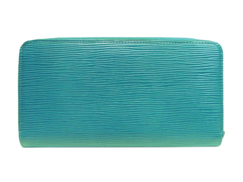 b9a5ef89c283 Lyst - Louis Vuitton Cyan Blue Epi Leather Zip Around Zippy Wallet ...