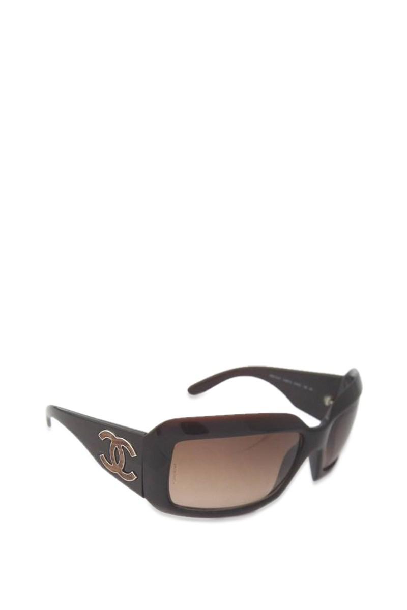 1e06c436fe6c Chanel Sunglasses Coco Mark 6022 Brown Lizard Embossed Leather ...