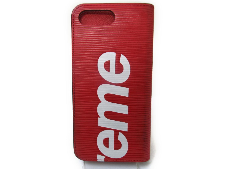 innovative design f095a 9cfc5 Louis Vuitton Epi Red Folio Iphone7 Plus Case Limited Edition Supreme M67757