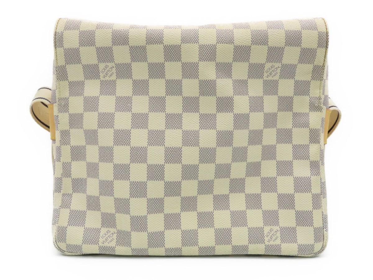 299e6dccf2b4 Lyst - Louis Vuitton Naviglio Shoulder Bag Damier Azur White N51189 ...