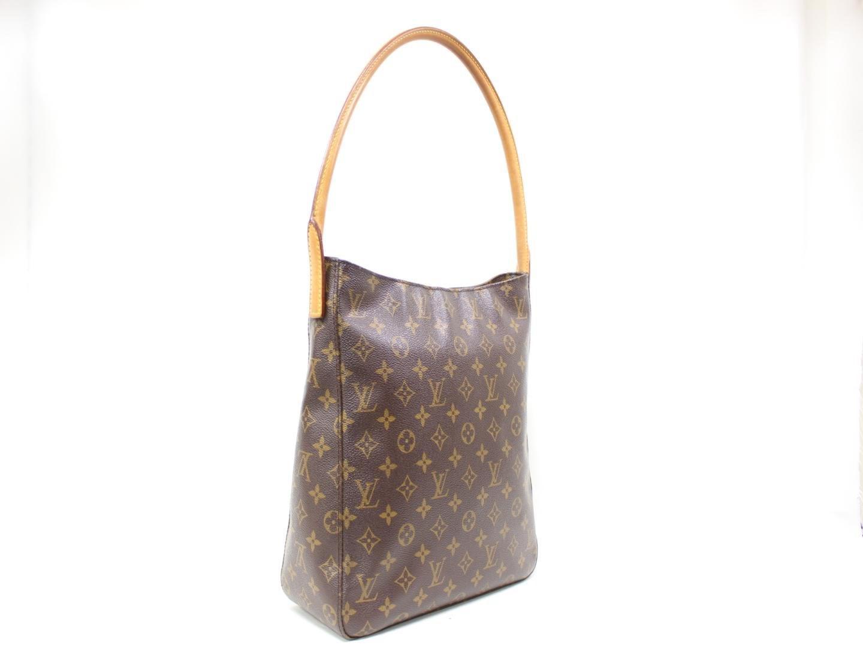 2e3f60e56477 Lyst - Louis Vuitton Looping Gm Shoulder Bag M51145 Monogram Brown ...