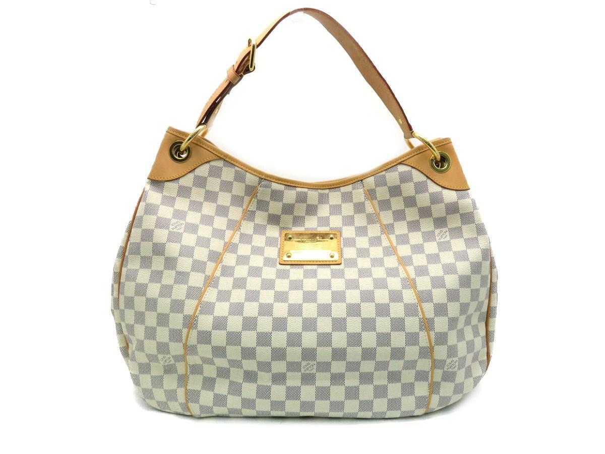 b99cb28a202 Lyst - Louis Vuitton Lv Galliera Pm Shoulder Bag Damier Azur White ...
