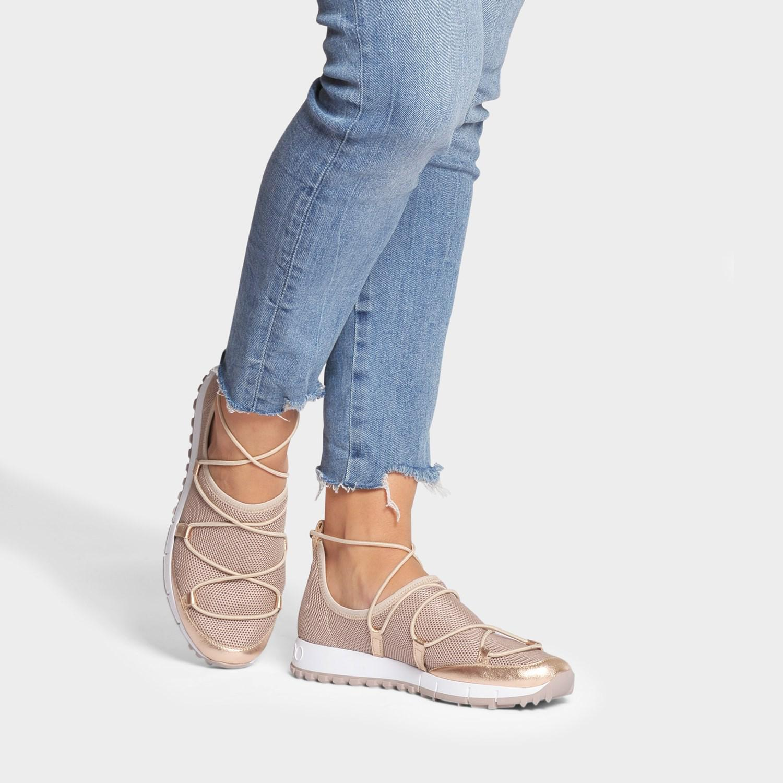 Jimmy Choo Lace Andrea Mesh Sneakers In
