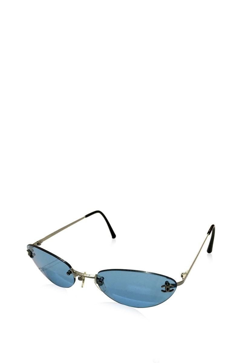 7456efa7ca Chanel Men's Women's Cc Cc Mark Sunglasses Blue 4003 in Blue - Lyst