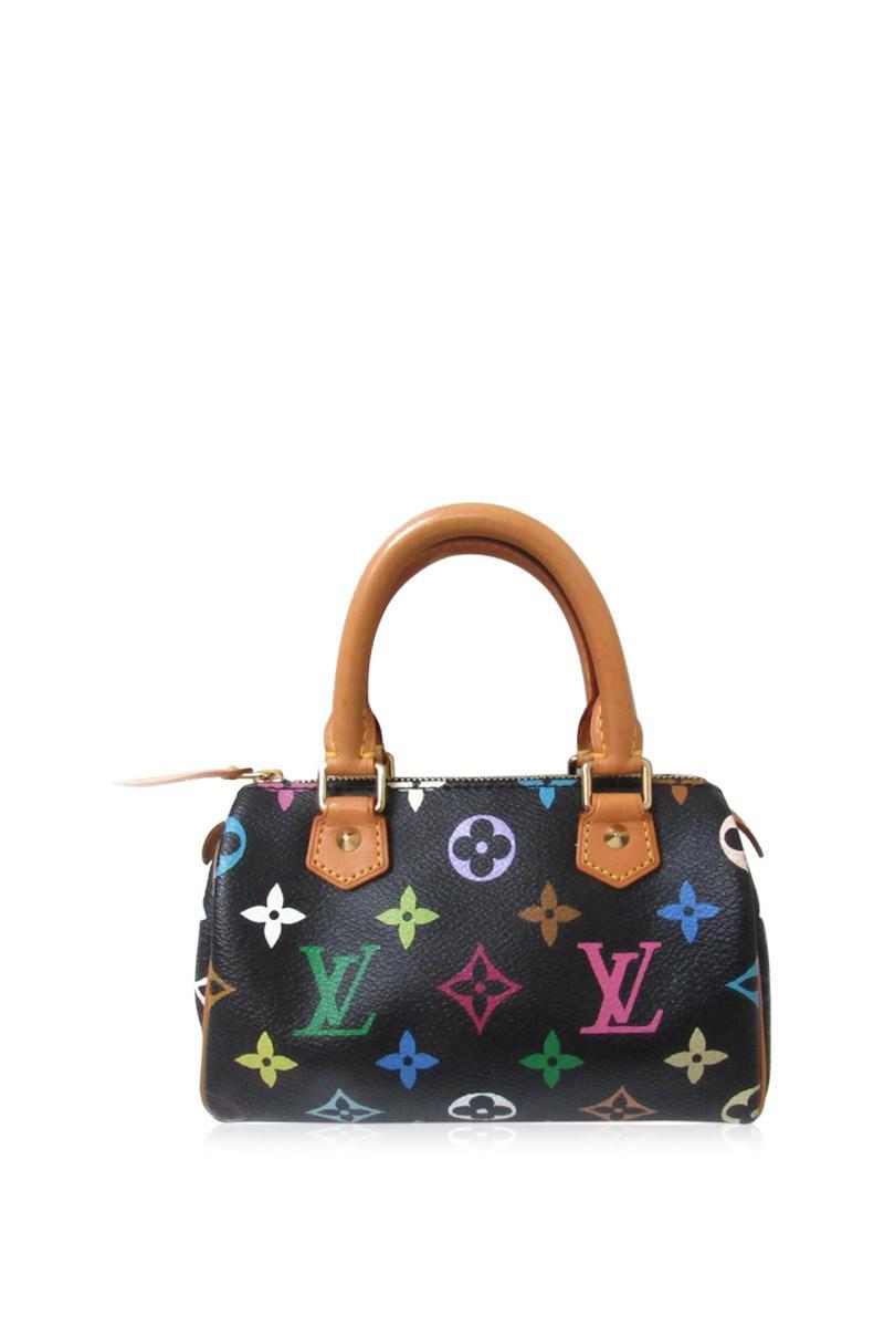 26bcfe4c5edb Lyst - Louis Vuitton Mini Speedy Handbag Bag Monogram Multicolor ...