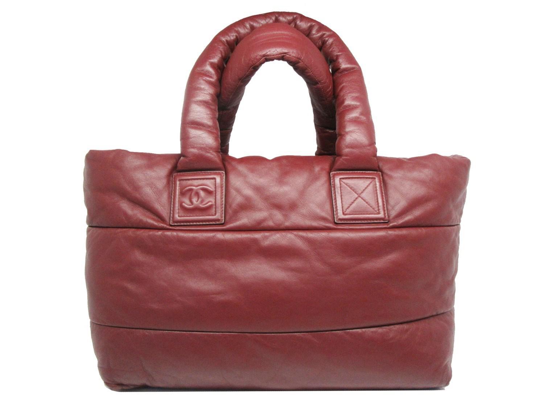 fa38ecd084da Lyst - Chanel Authentic Coco Cocoon Tote Hand Bag Bordeaux Leather ...